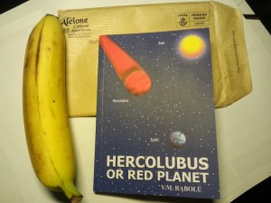 The book, with a banana scale.